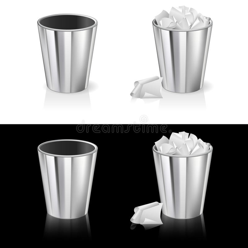 Download Set of garbage can stock vector. Image of container, trashcan - 19940862