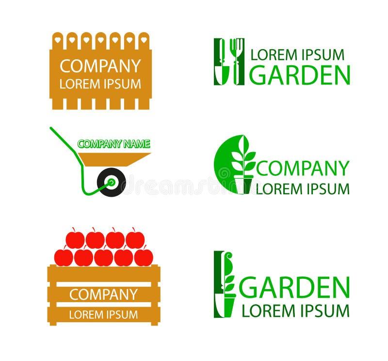 Download A Set Of Garden Logos Stock Vector. Illustration Of Flora    57440534