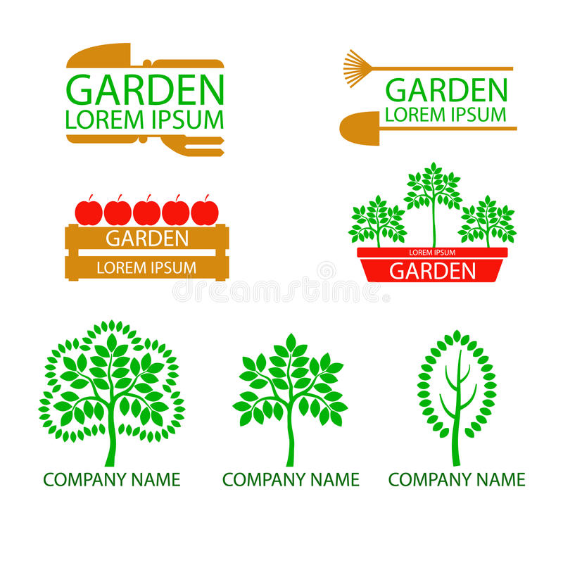 Exceptional A Set Of Logos, Emblems On The Theme Of Gardening. Good To Use For The Logo  Or Symbol Of Your Company. Ideal For Presentations And Ads Shop For  Gardeners, ...