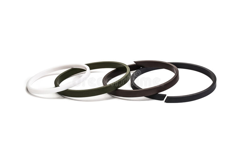 Set of gaskets isolated on white background.  stock photography