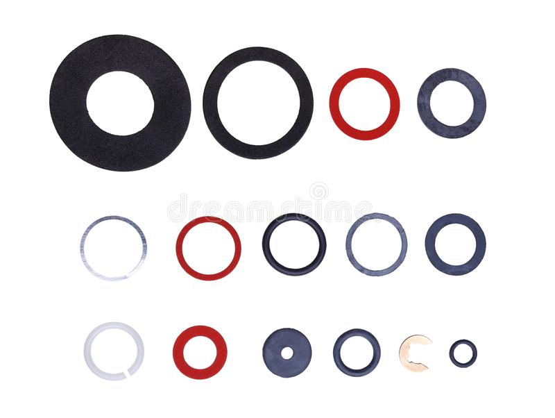 Set of gaskets royalty free stock photos
