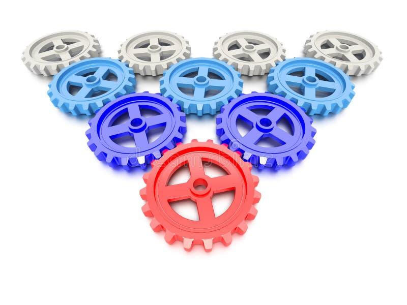 Download Set Of Gears stock illustration. Illustration of reflection - 32337309
