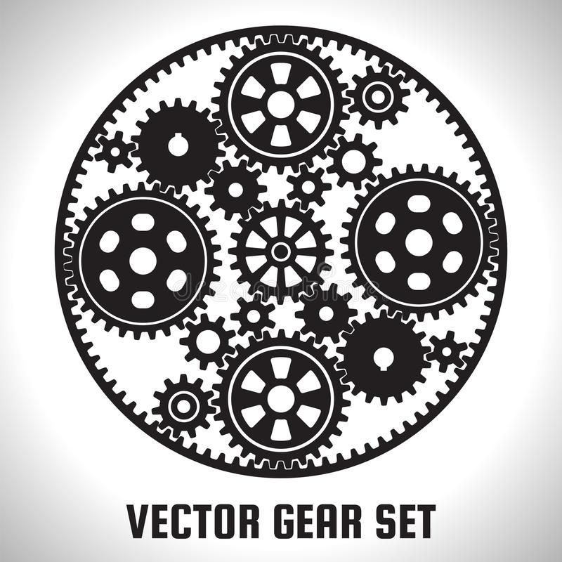 Set of gears royalty free illustration