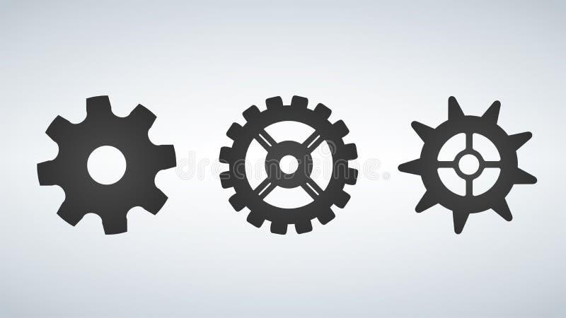 Set of gears. Vector illustration. royalty free illustration