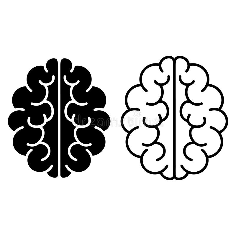 Set Gehirnikonen Auch im corel abgehobenen Betrag lizenzfreie abbildung