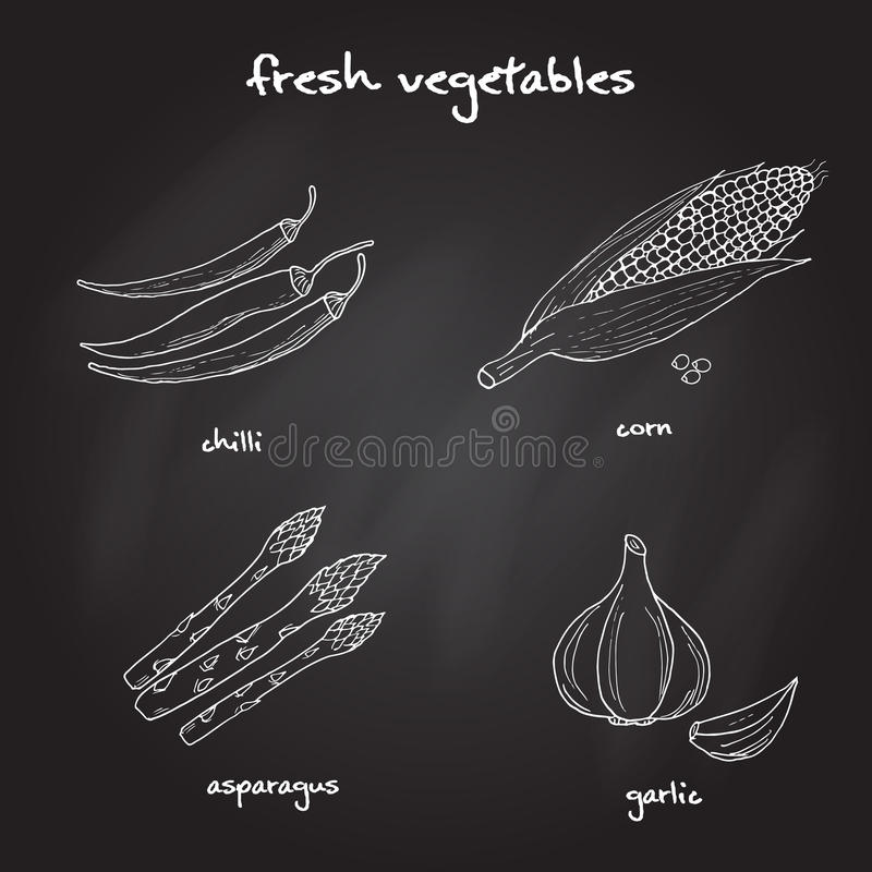 Set Gemüse stockbild
