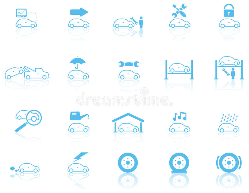 Set Of General Motor Maintenance Icons Stock Photography