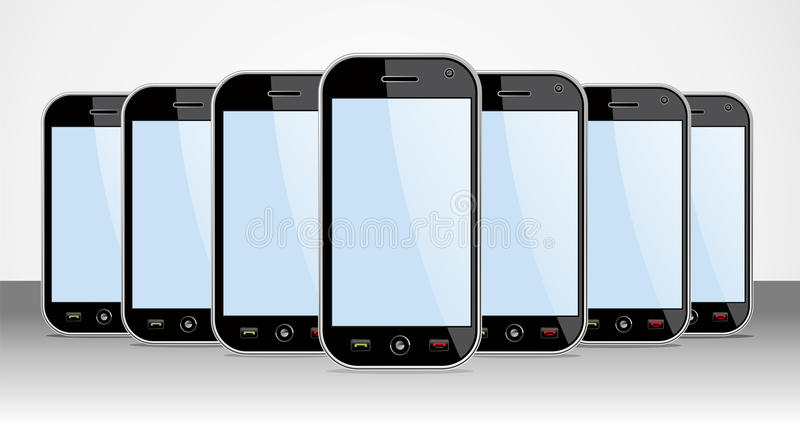 Set of generic Smartphones for app templates