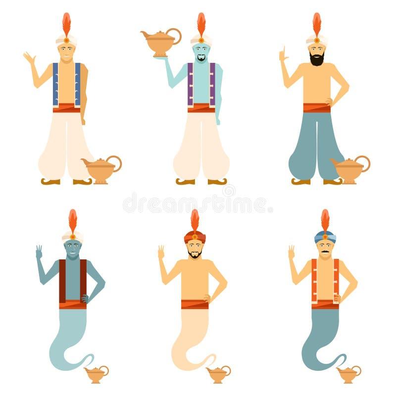 Set Genies ilustracja wektor