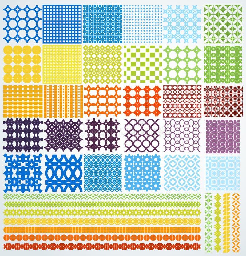 Set of geometric seamless patterns. stock photo
