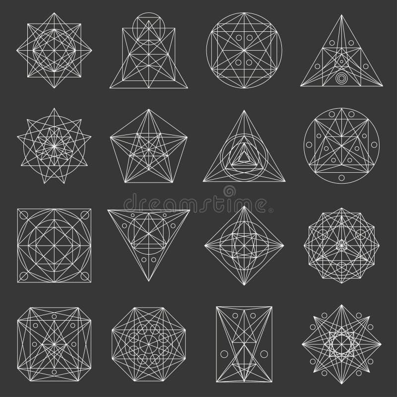 Set of geometric shapes. stock photo