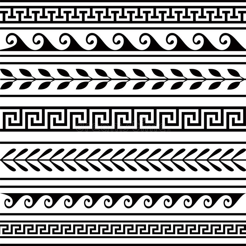Set geometrische Ränder vektor abbildung