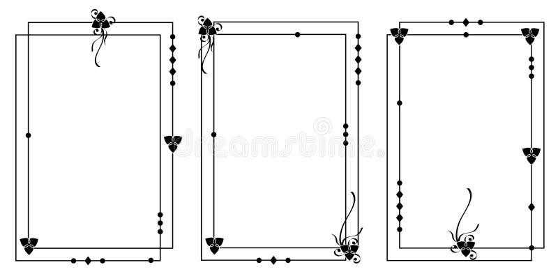 Set geometryczne ramy ilustracji