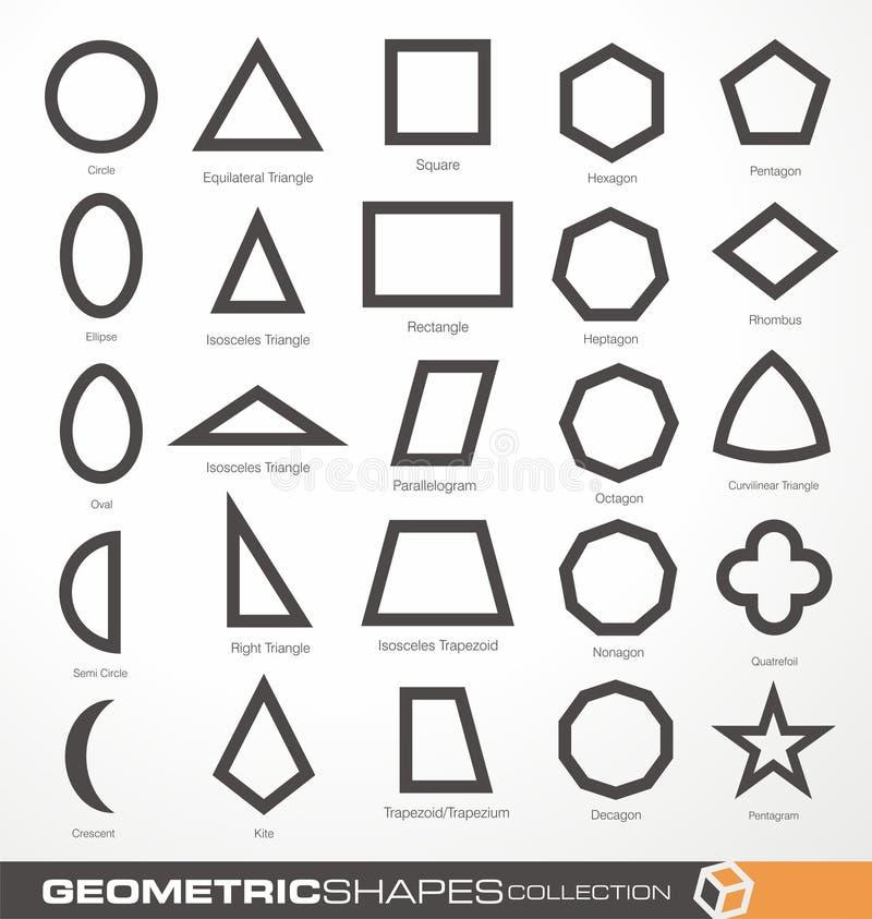 Set geometryczni kształty ilustracja wektor