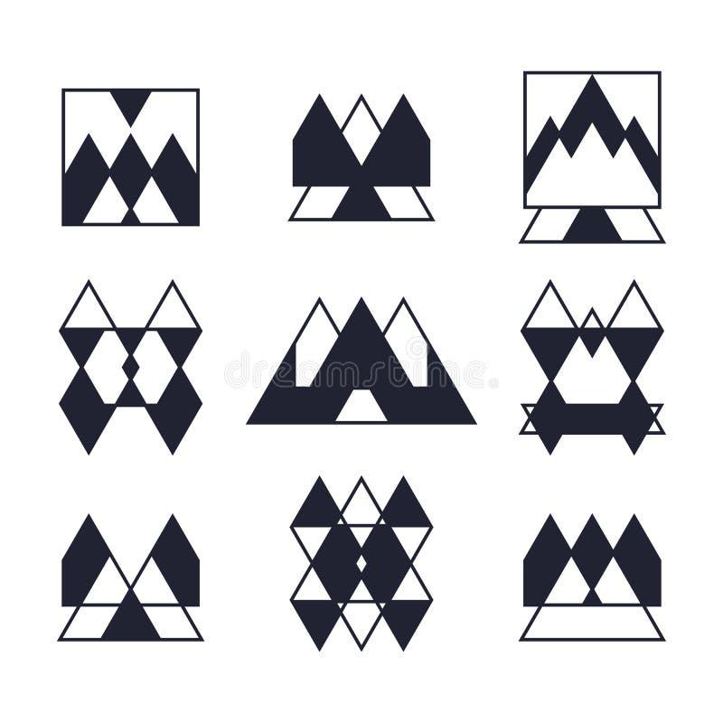 Set geometryczni kształty Modne ikony i logotypy Religia, s ilustracja wektor