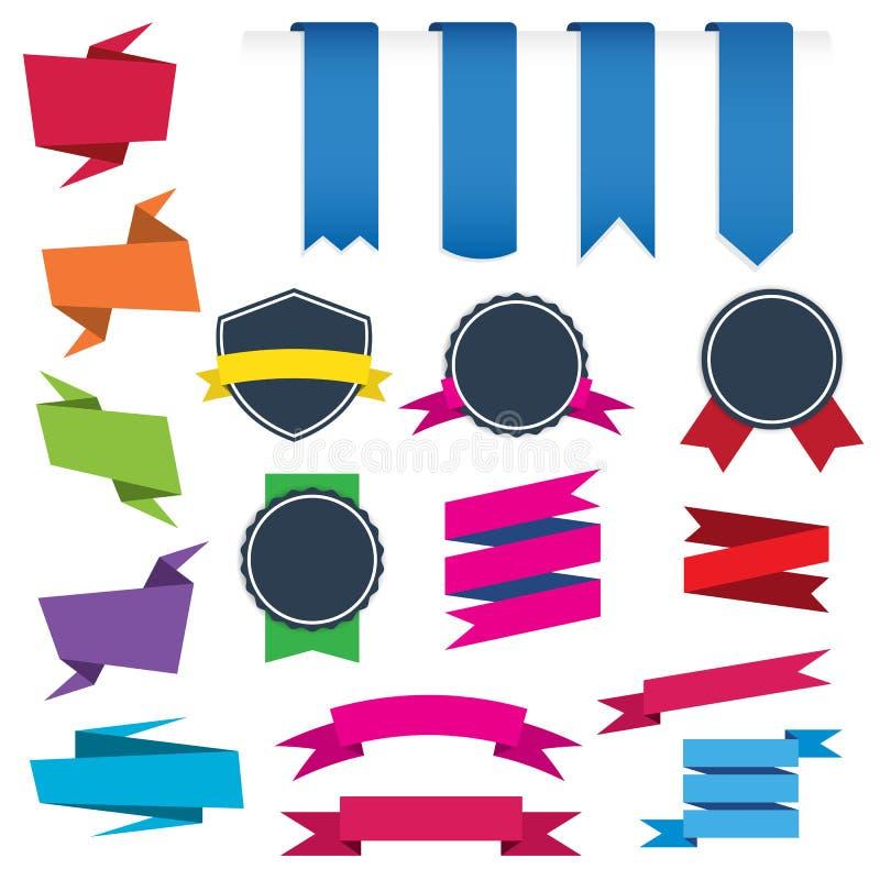 Set Geometryczni sprzedaż sztandary z tekst przestrzenią, metro stylu kolor, esp10 ilustracji