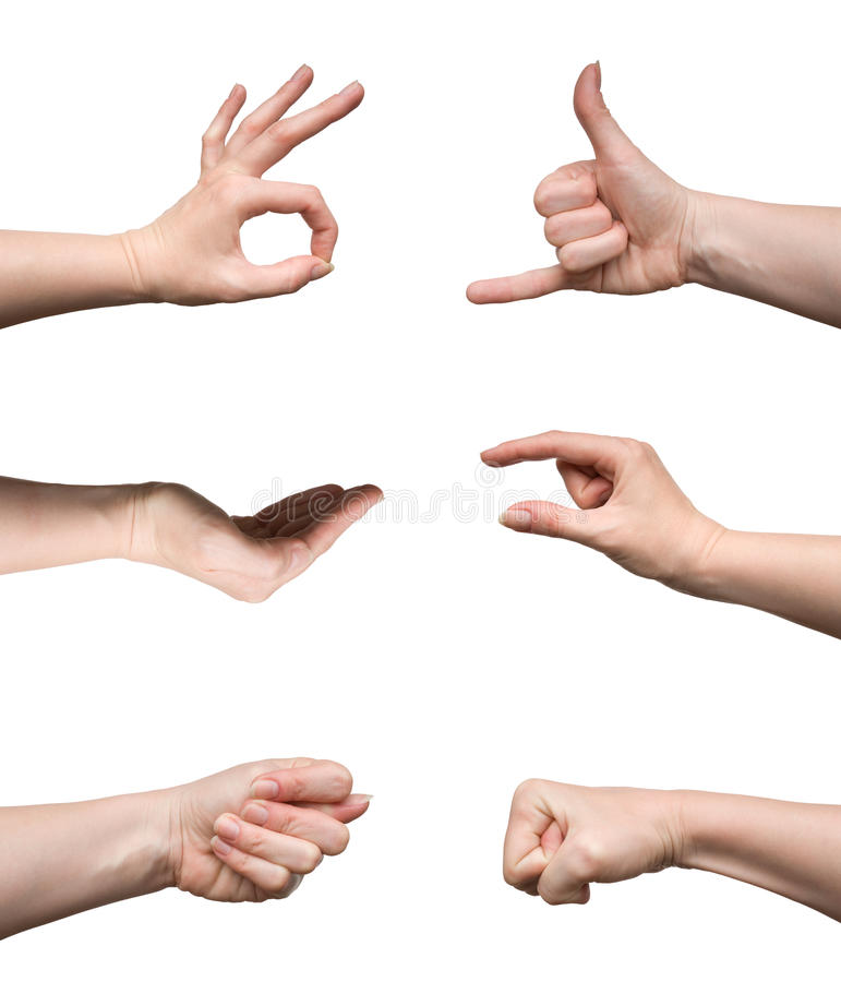 Set Of Gestures Royalty Free Stock Photo