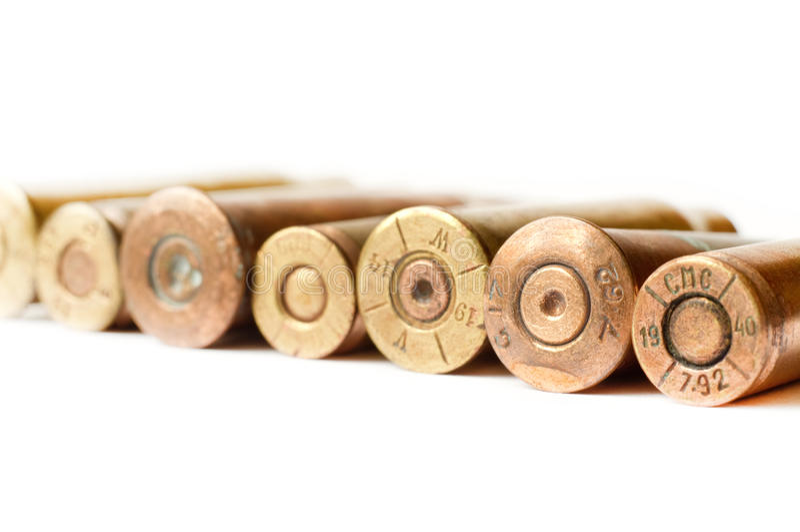Set Gewehrkugeln lizenzfreie stockbilder
