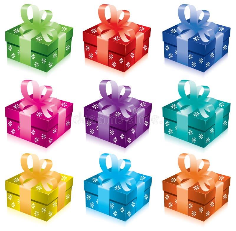 Set of gift boxes royalty free illustration