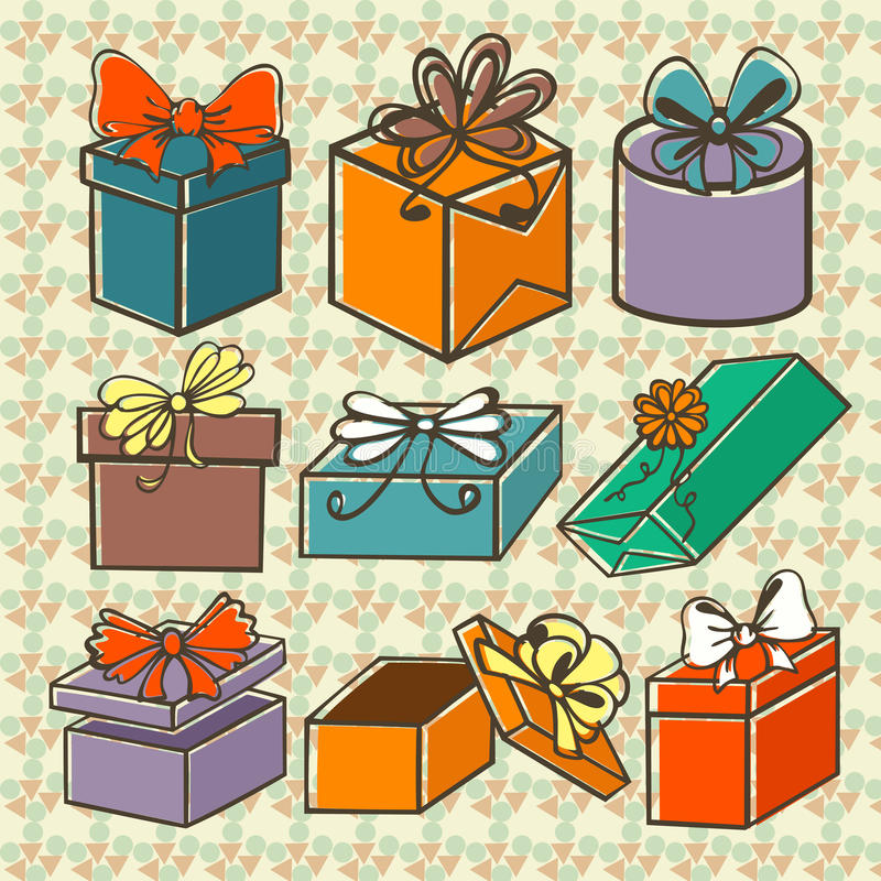 Download Set of gift boxes stock illustration. Image of computer - 32414658
