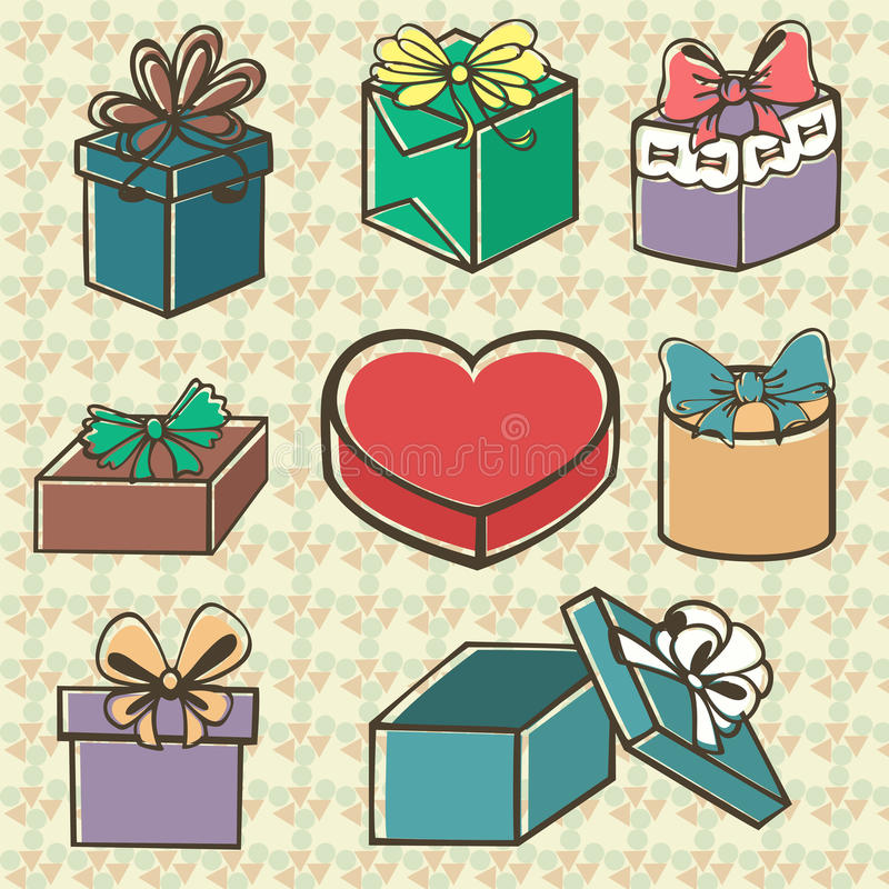 Download Set Of Gift Boxes Royalty Free Stock Photos - Image: 32414698