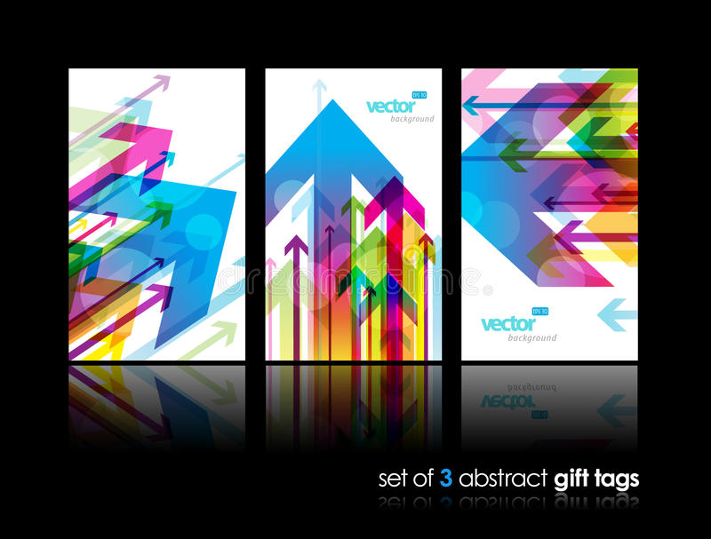 Download Set Of Gift Cards With Arrows. Stock Vector - Image: 21274130