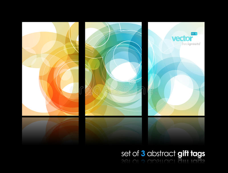 Download Set Of Gift Cards With Circles. Stock Vector - Image: 20685220