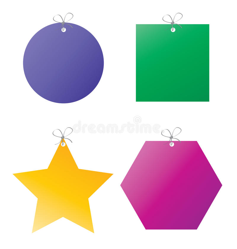 Download Set of gift tags stock vector. Illustration of color - 19696118