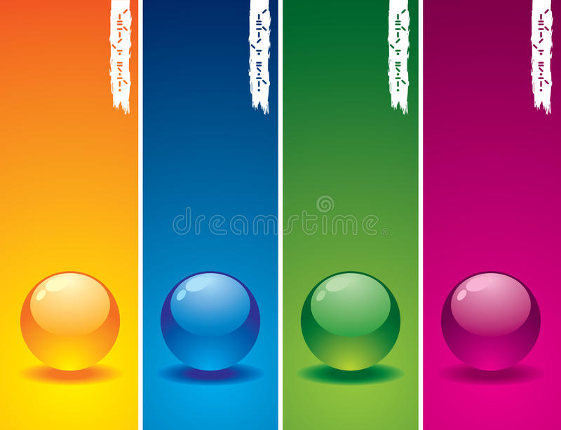 Download Set of glass buttons stock vector. Image of green, frame - 9460310