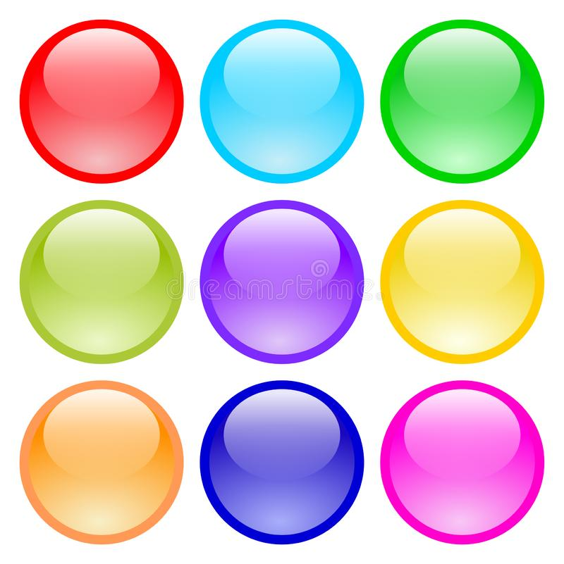 Set of glass buttons royalty free illustration