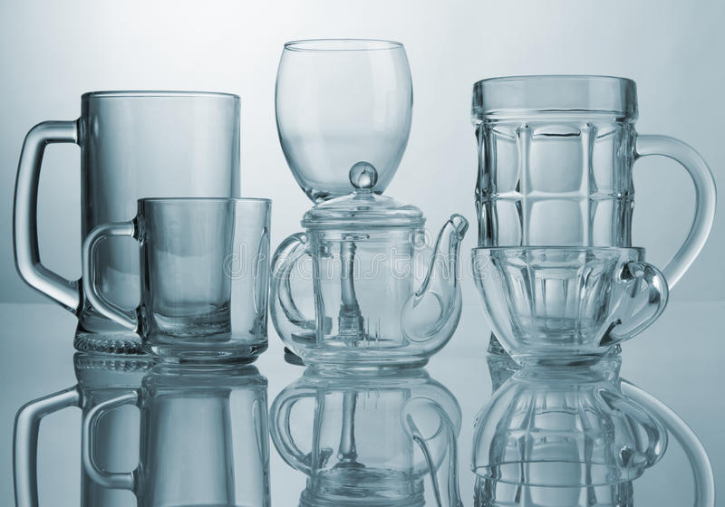 Download Set of glass dishes stock photo. Image of gray, beverage - 18709546