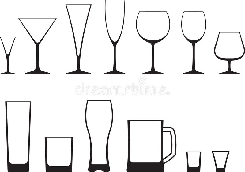 Set of glasses vector illustration