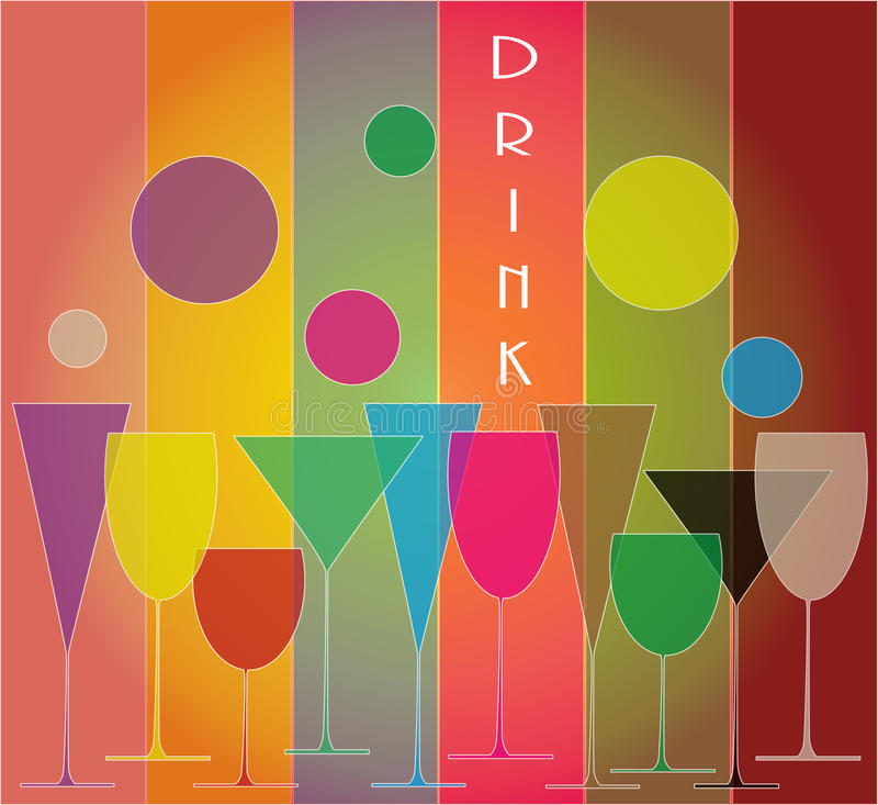 Download Set of glasses stock vector. Illustration of alcohol - 31352427