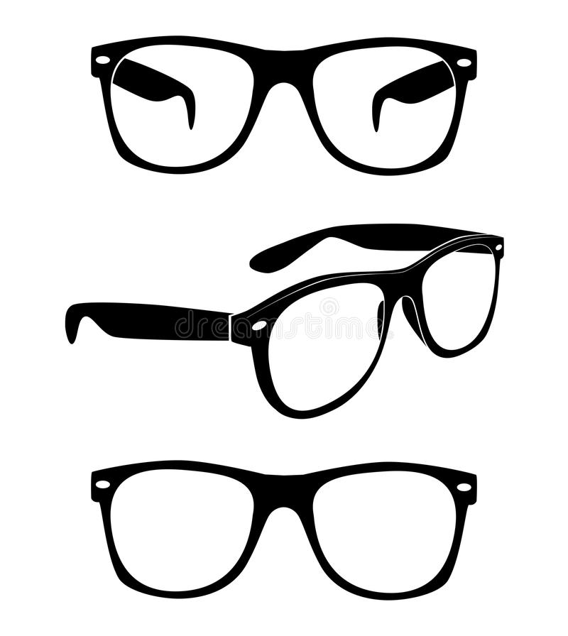 Set of glasses. Print illustration
