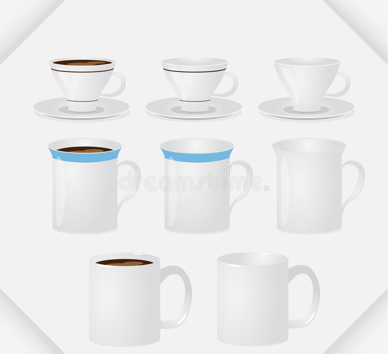 Set Of Mugs Royalty Free Stock Photography