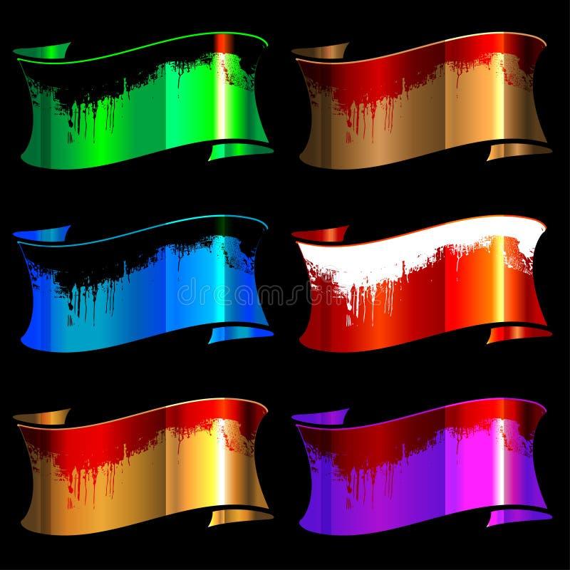 Set glatte Farbbänder der Farbe lizenzfreie abbildung