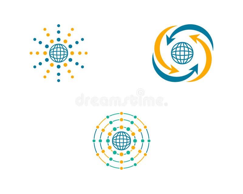 Set of Globe design logo template. Globe design logo template, globe design logo stock illustration