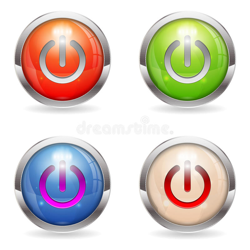 Download Set Gloss Button With Switch Stock Vector - Illustration: 26647238