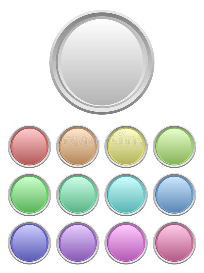 Set Of Glossy Buttons Royalty Free Stock Images