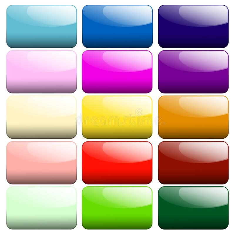 Set of glossy buttons stock illustration