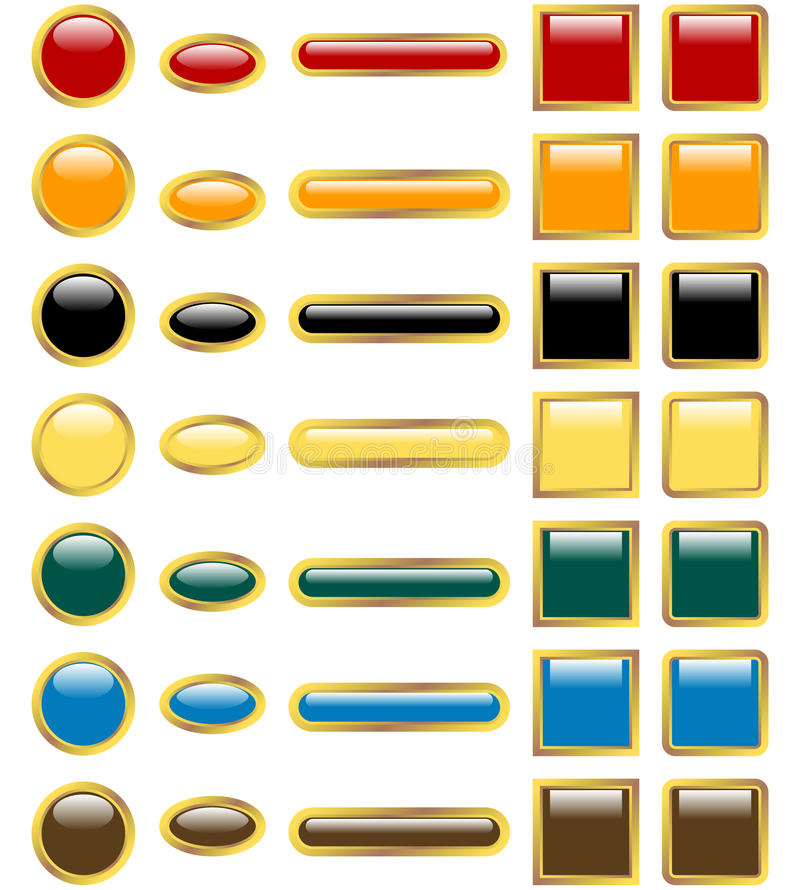 Download Set of Glossy Web Buttons stock vector. Illustration of internet - 14465123