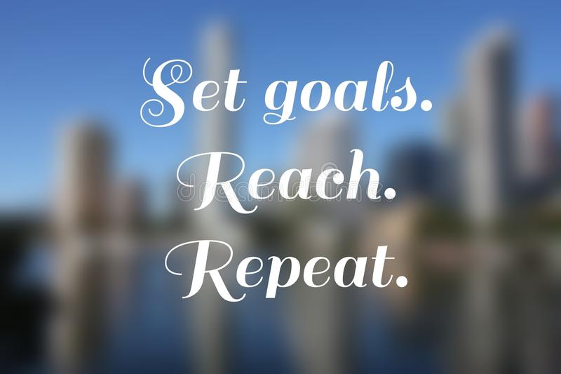 Set goals. Business motivational poster - startup inspiration. Set goals royalty free stock photography