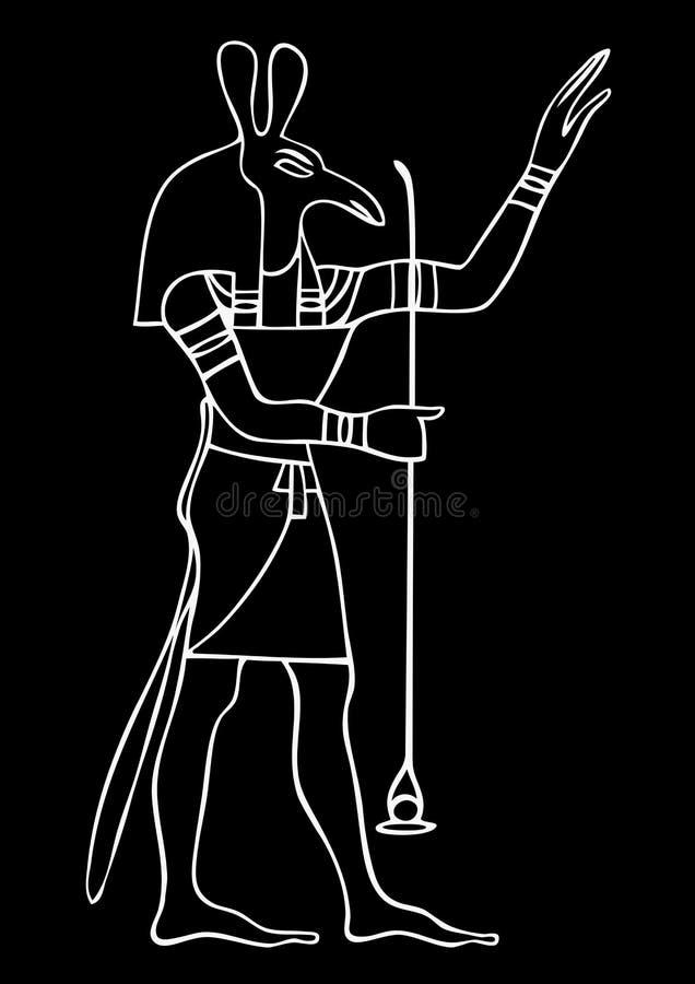 Set - God of ancient Egypt. Illustration of the Set - God of ancient Egypt royalty free illustration