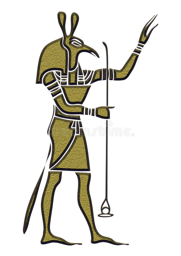 Set - God of Ancient Egypt. God of storms, desert, chaos and war stock illustration