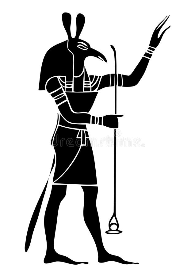 Set - God of Ancient Egypt. God of storms, desert, chaos and war royalty free illustration