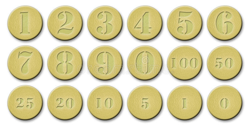Download Set Of Gold Coins stock illustration. Illustration of coinage - 29483178