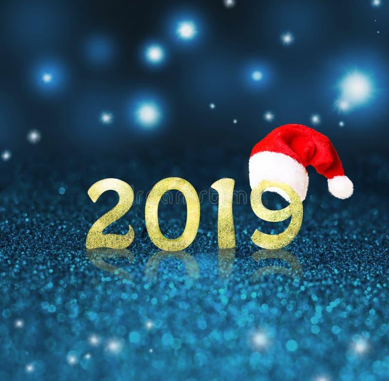 Set of gold shiny digits on glitter background. New year 2018 background. Christmas. Set of gold shiny digits on glitter background. New year 2018 background royalty free stock image