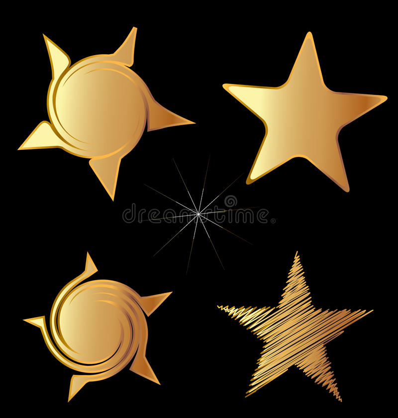 Download Set of gold stars logo stock vector. Image of colourful - 25330071