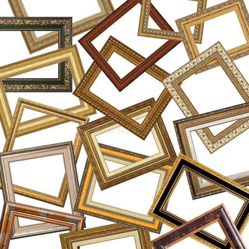 Set Goldbilderrahmen lizenzfreie stockbilder