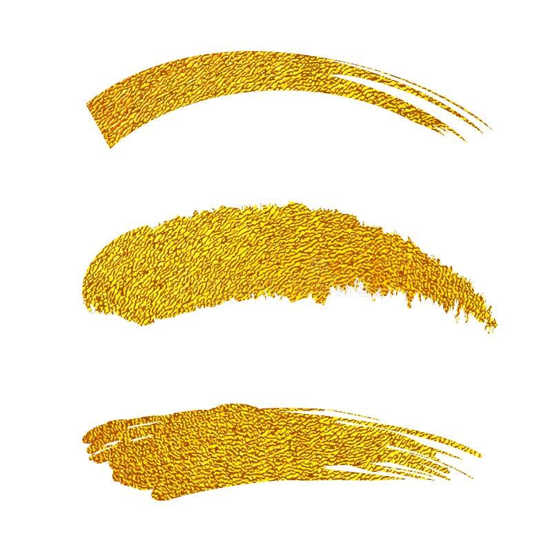 Golden paint brushes stock illustration